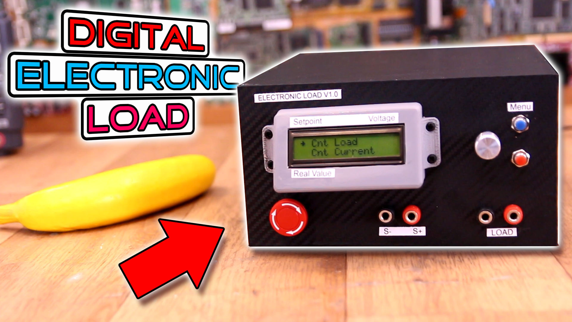 In this tutorial I show you how I've build a homemade electronic load with Arduino, an LCD, rotary encoder for the menu and a power MSOFET for load c