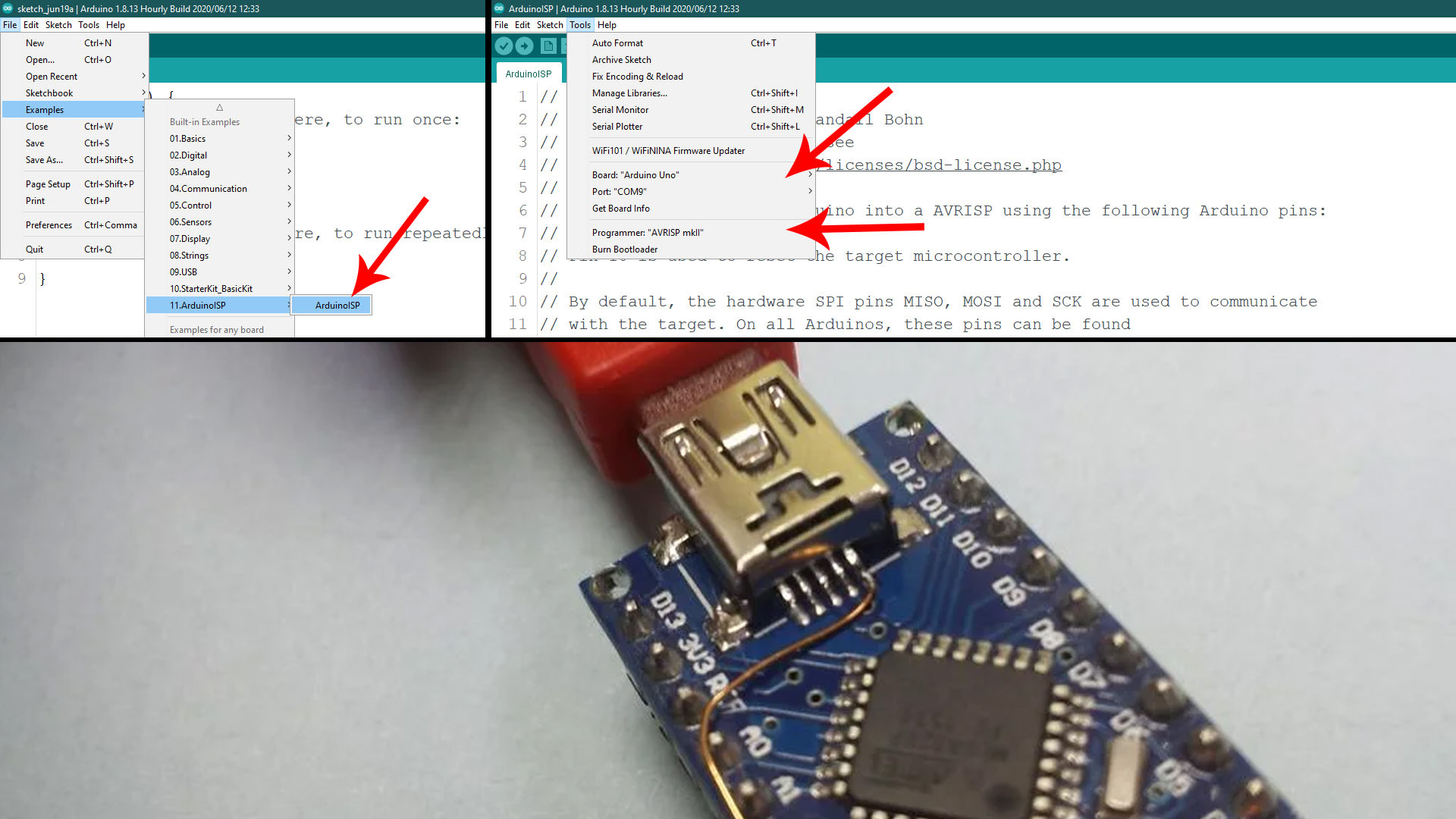 Arduino as ISP