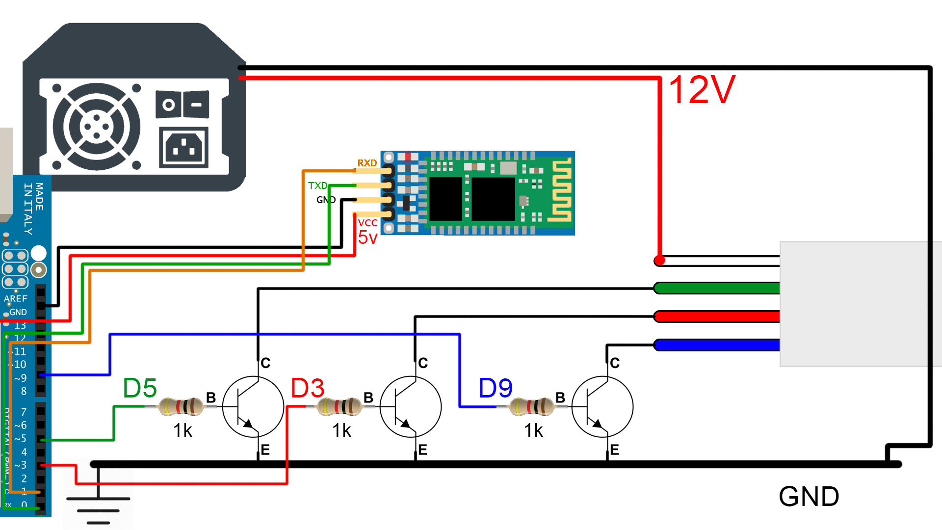 led strip arduino bluetooth