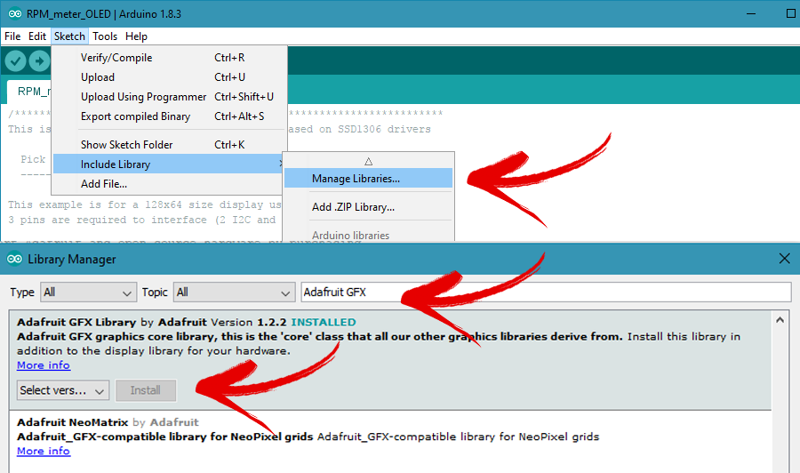 install Arduino library