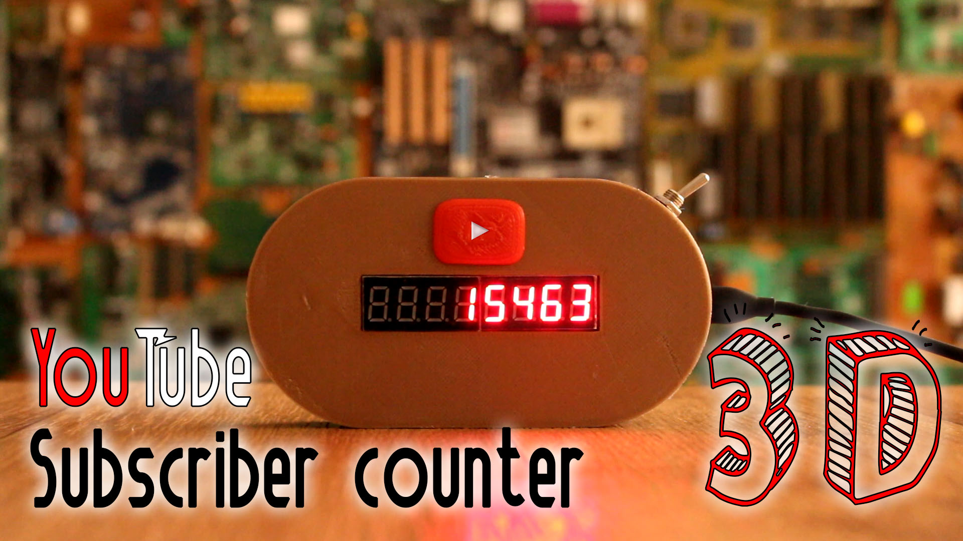 WiFi YouTube subscribers counter esp8266