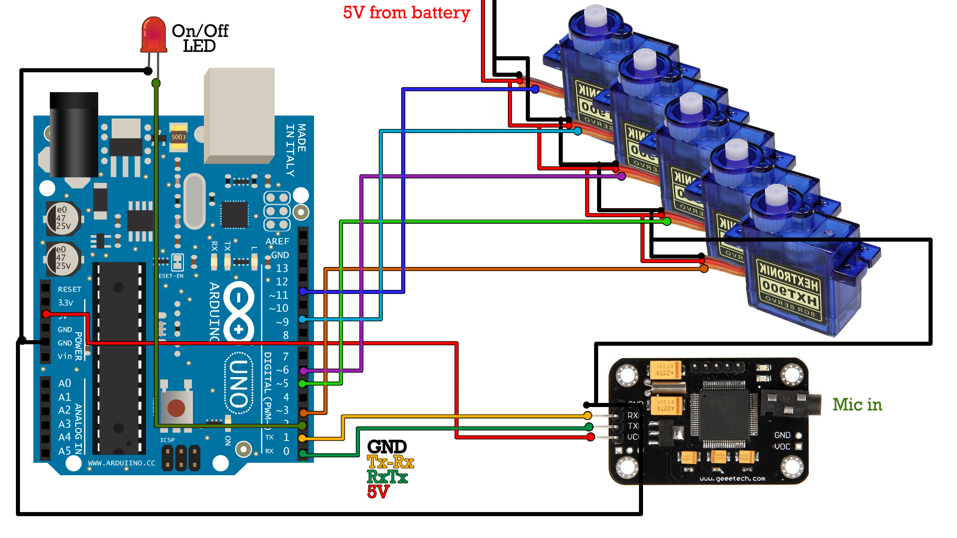 Full Schematic List 3d Printed Robot Arm Voice Controlled Arduino Based