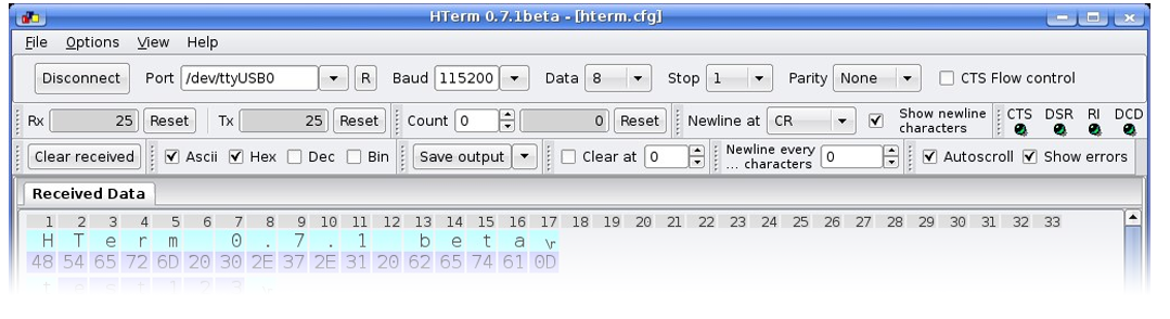 download HTerm serial software