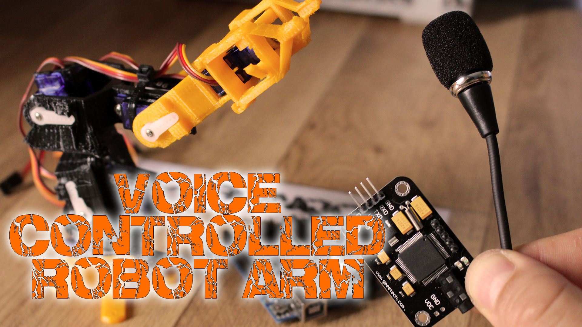 Voice controlled 3D printed robot arm