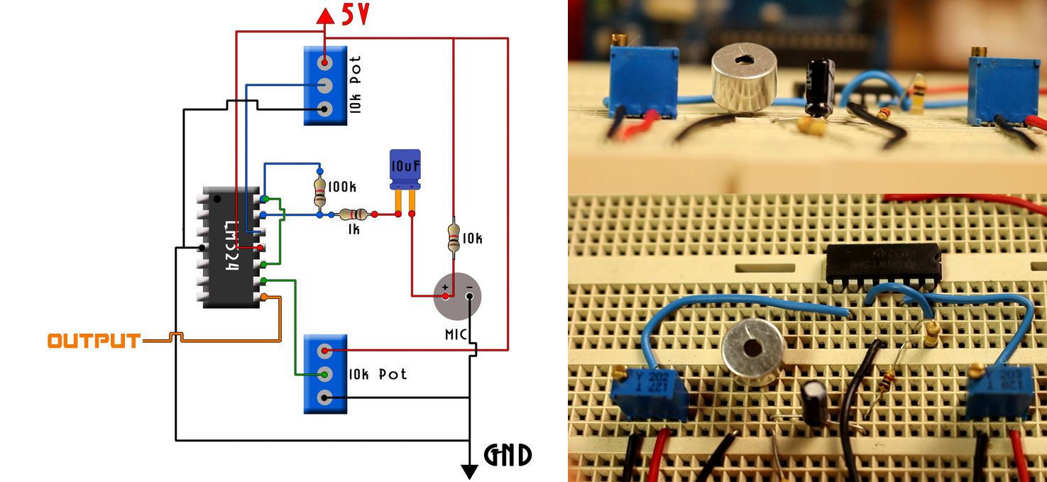 Whistle detect circuit arduino control switch