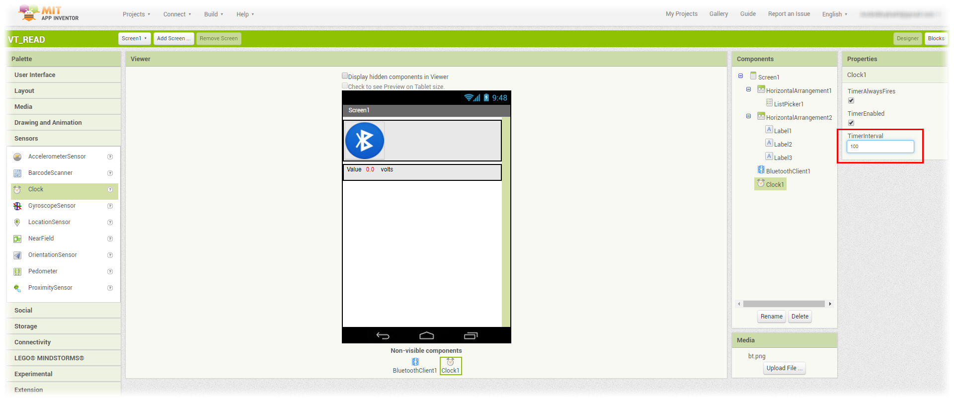 Android App Arduino receive bluetooth data HC06 float