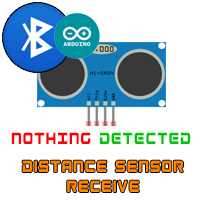 bluetooth arduino distance hc-sr04 read