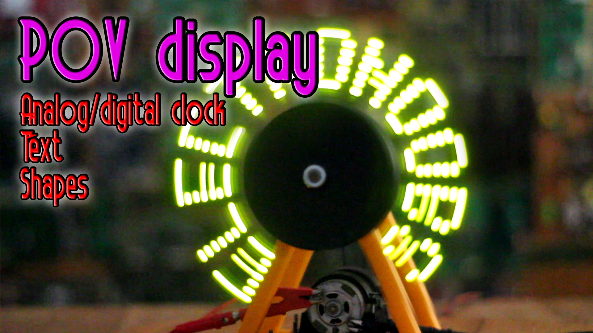 arduino POV display LED spin code