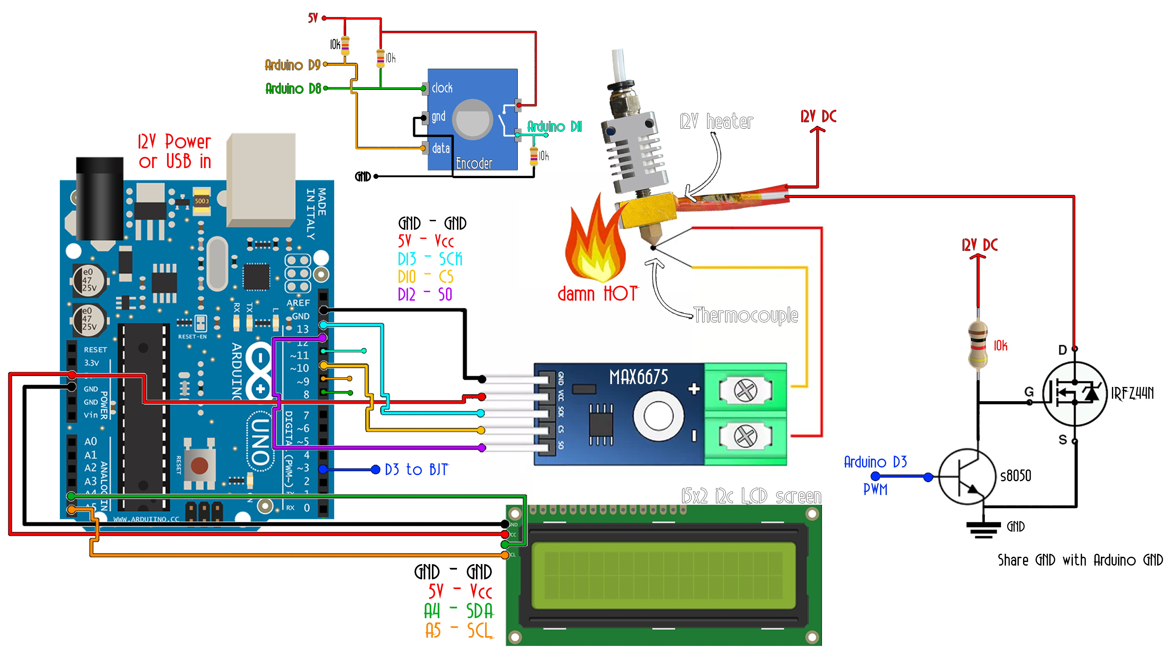 Temperature Pid Arduino Controller Tutorial Dc 12v To 5v Converter Circuit Uno Breadboard This Above Is The Final Schematic