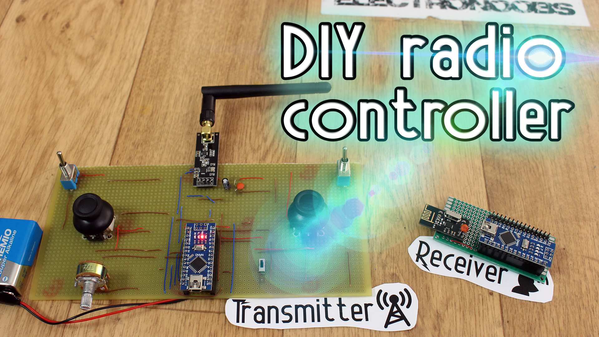Arduino Tutorials Begginers Advanced Easy Basic Transmitterreceiverradiocontrolschematicdiagrampng Build A Radio Transmitter With 5 Analog Channels And 2 Digital Use The Power Amplified Antenna Send 7 Bytes Of Data Receive Signal Create