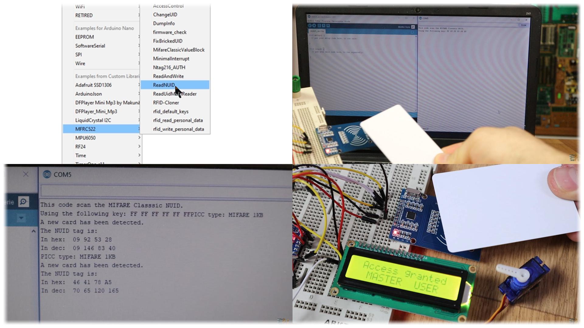 RFID arduino door lock