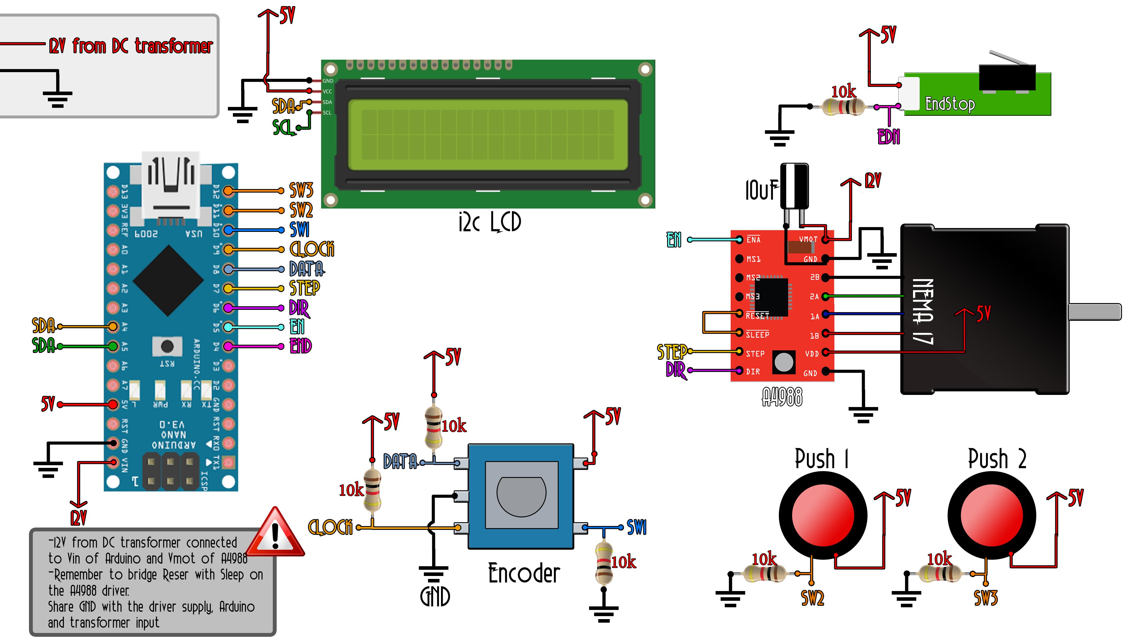 Arduino slider step motor schematic on