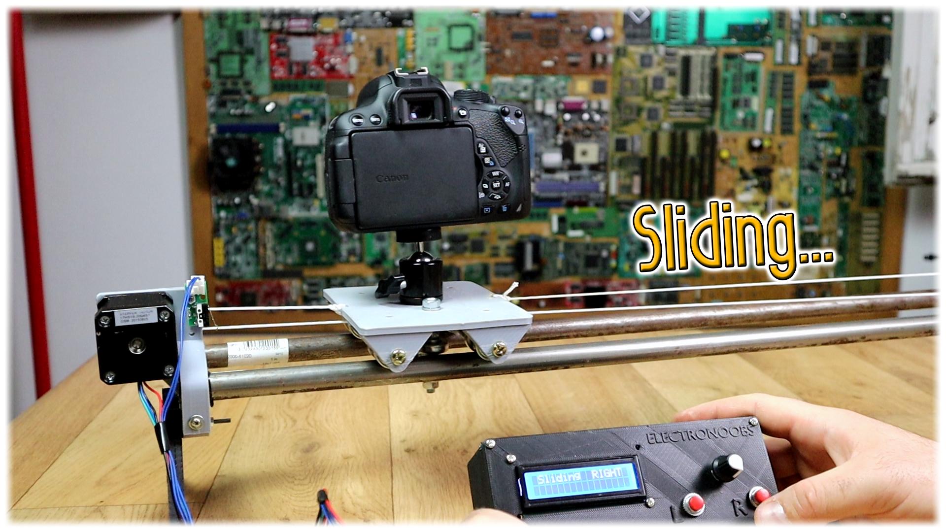 Diy Camera Slider 3d Arduino Step Motor