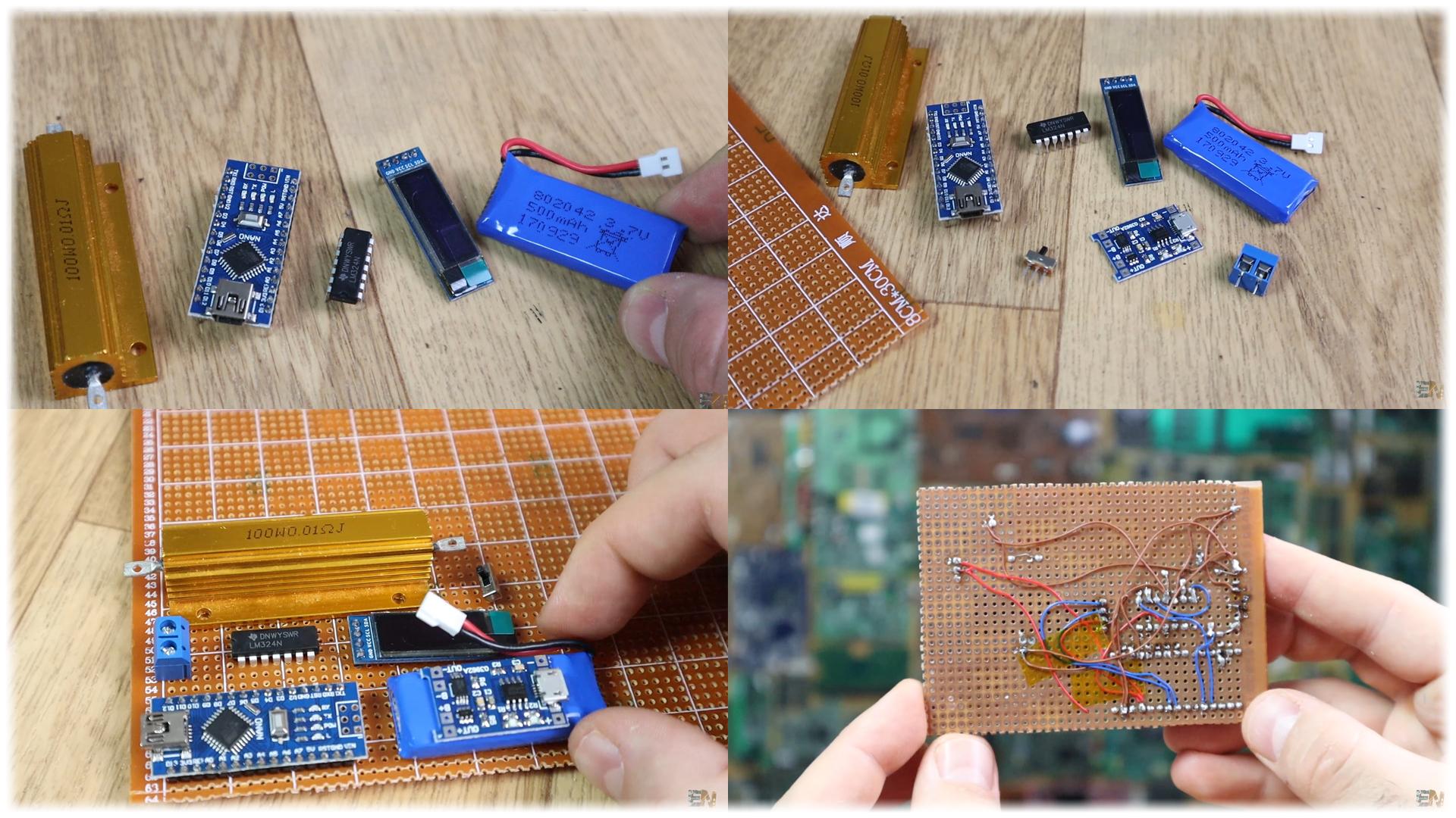 DIY Arduino power meter logger homemade