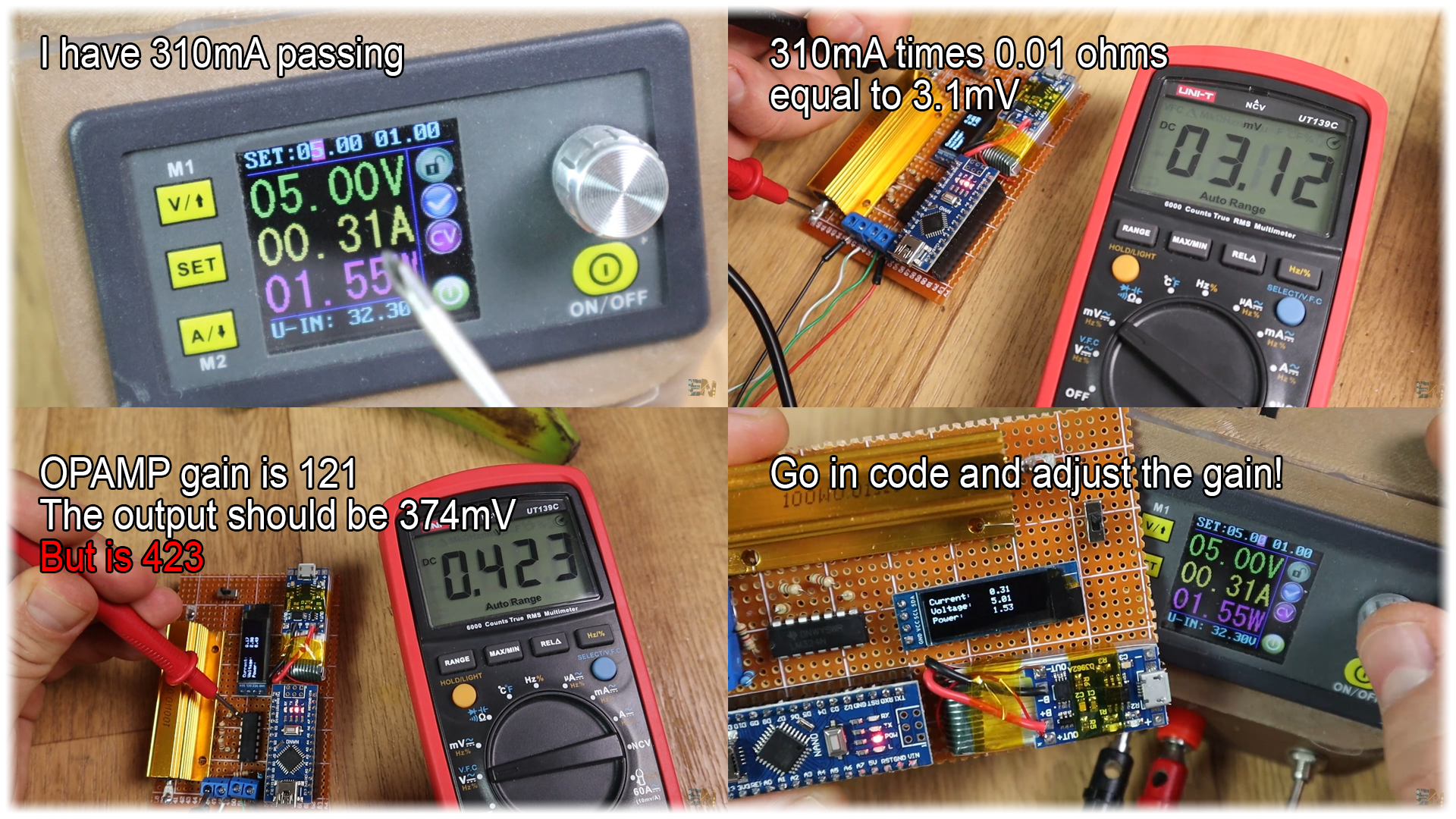DIY Arduino power meter logger homemade