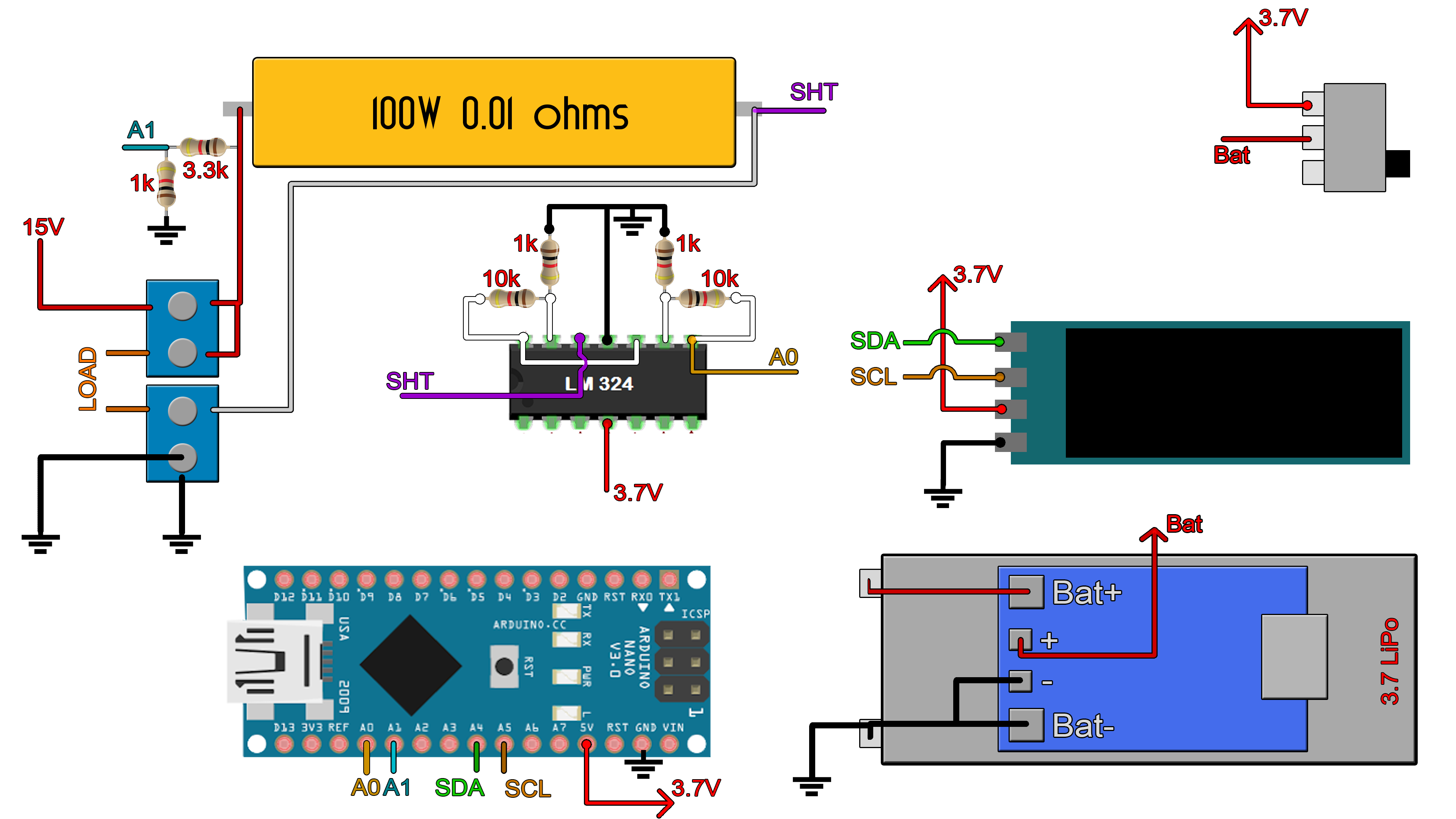 power meter schematic Arduino