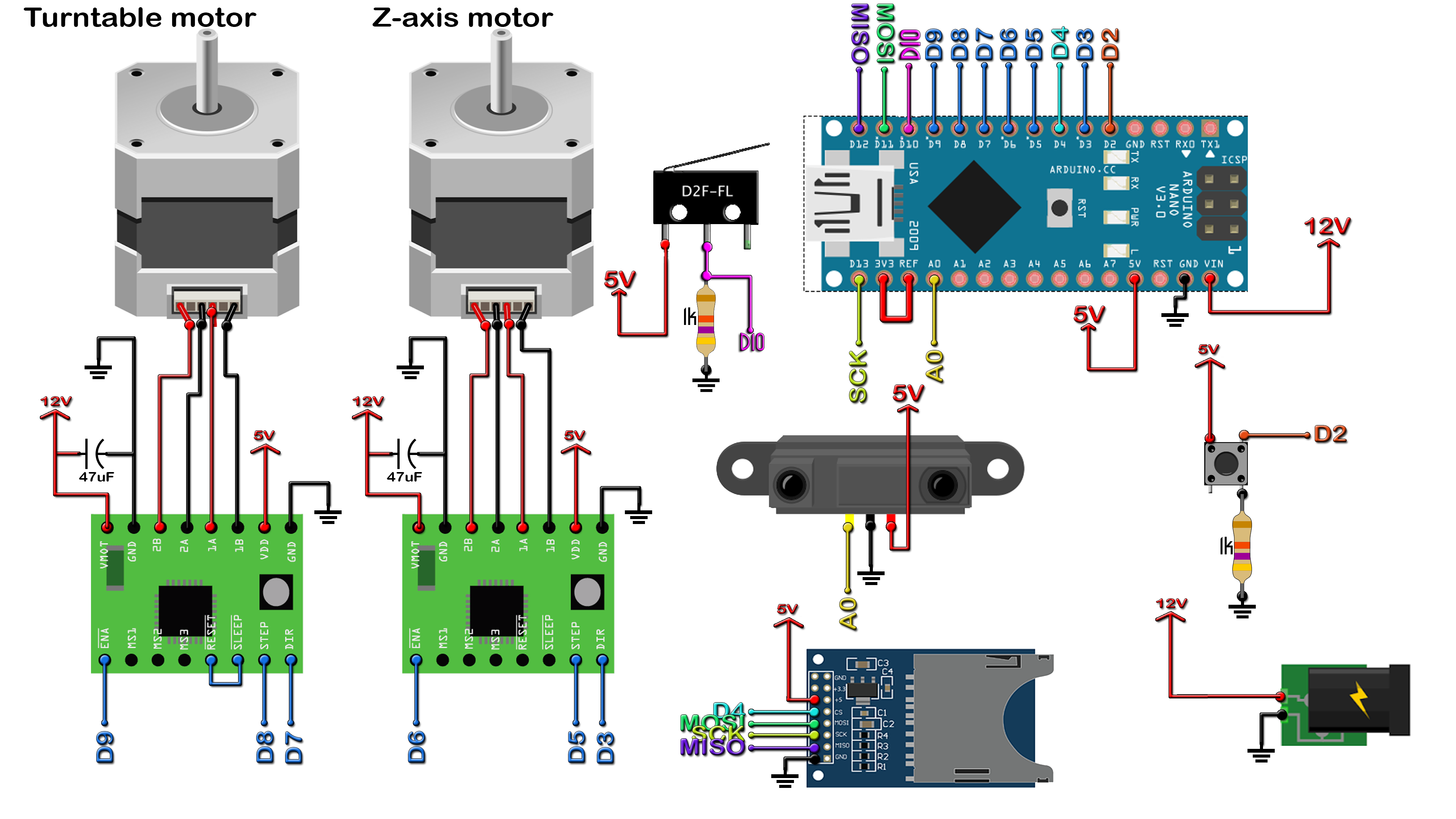 Arduino 3d Scanner Building Electric Wiring Diagram Schematic