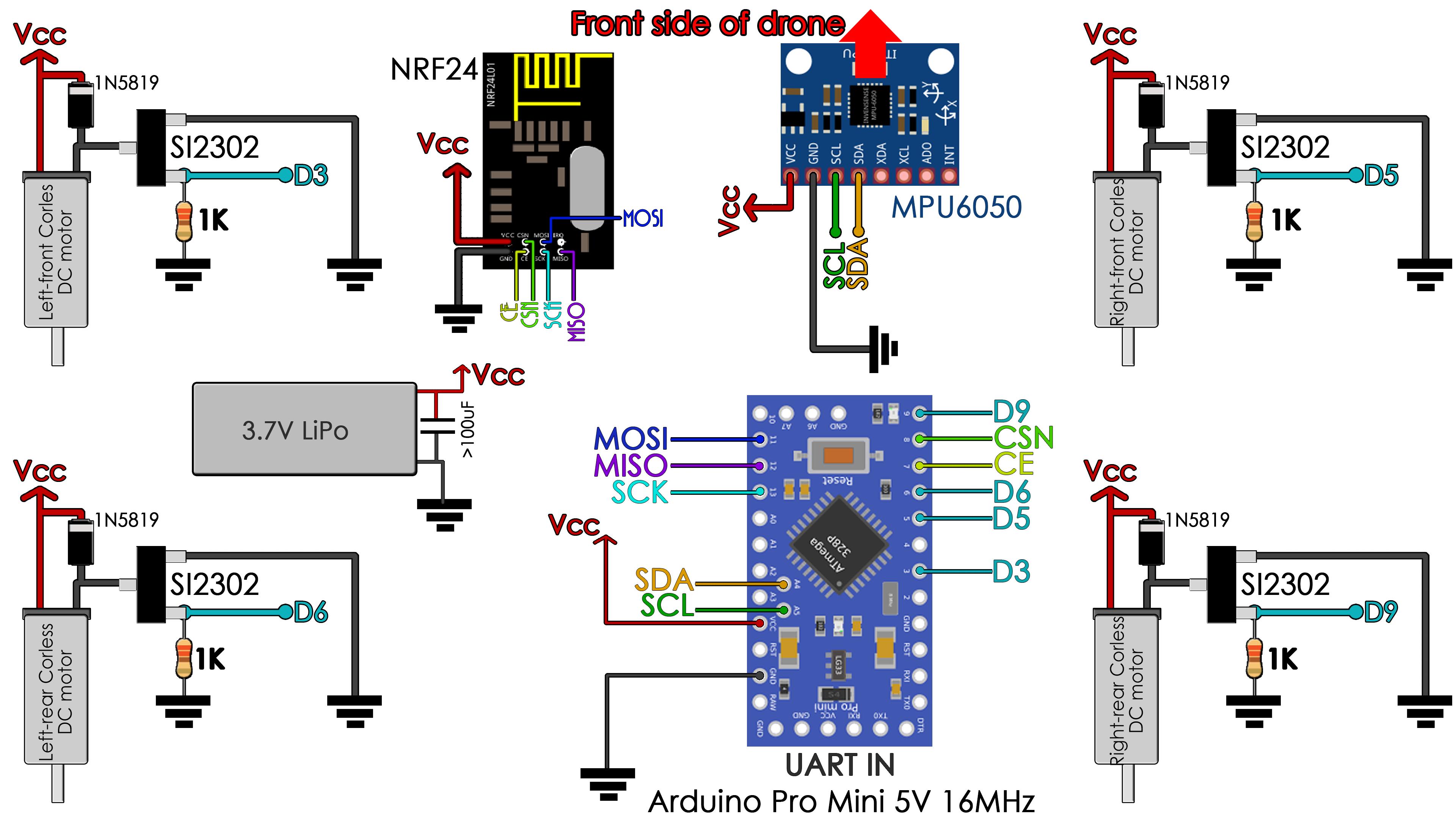 brushed_drone_schematic_arduino_pro_mini Quadcopter Schematic Diagram on pid controller block,
