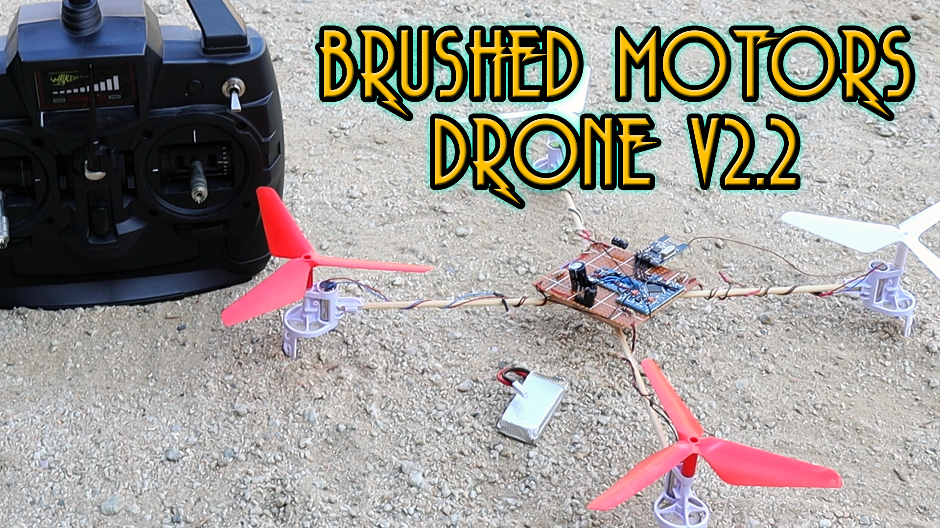 Brushed motors Arduino cheap homemade drone