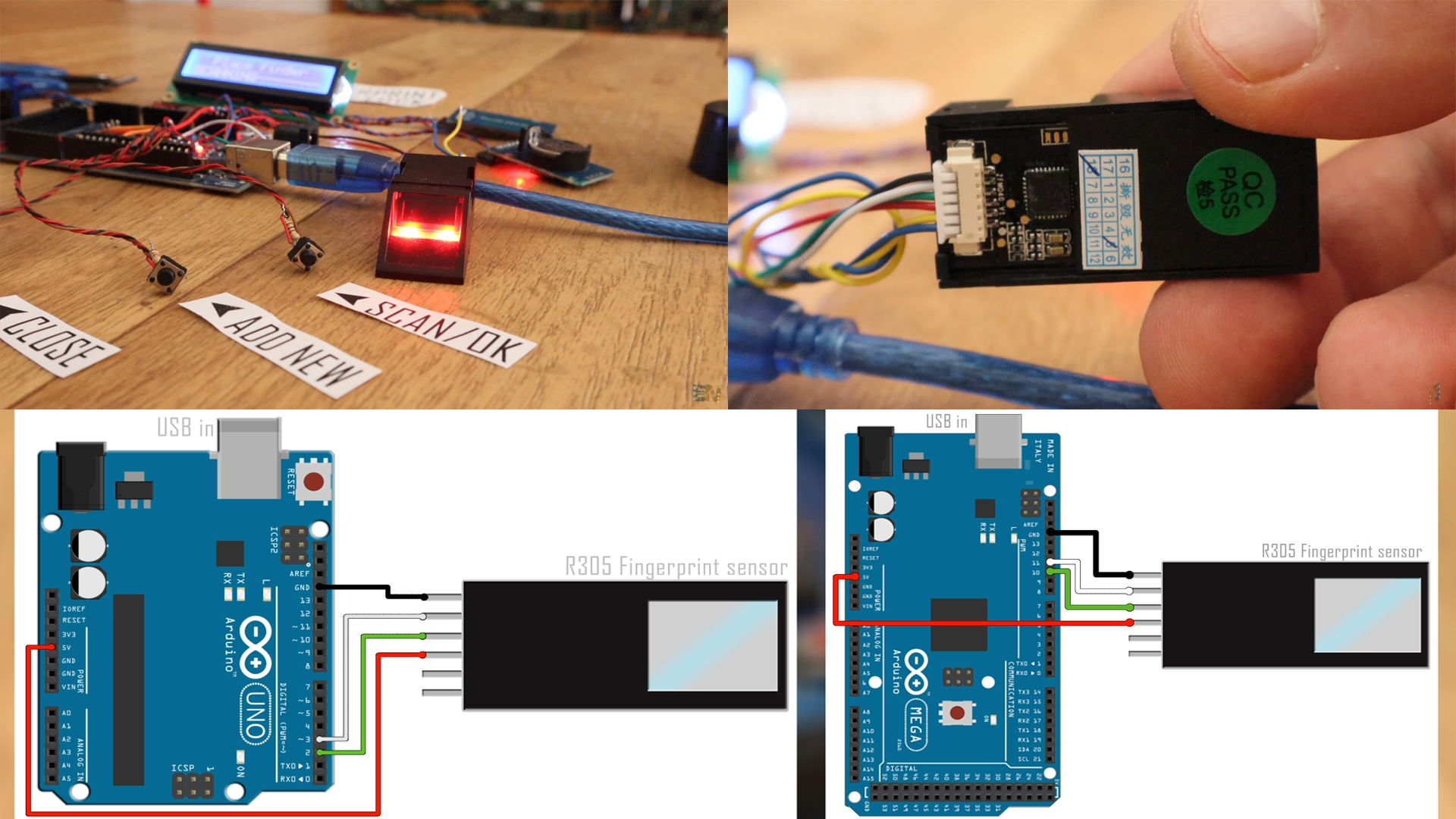 Arduino fingerprint sensor door lock