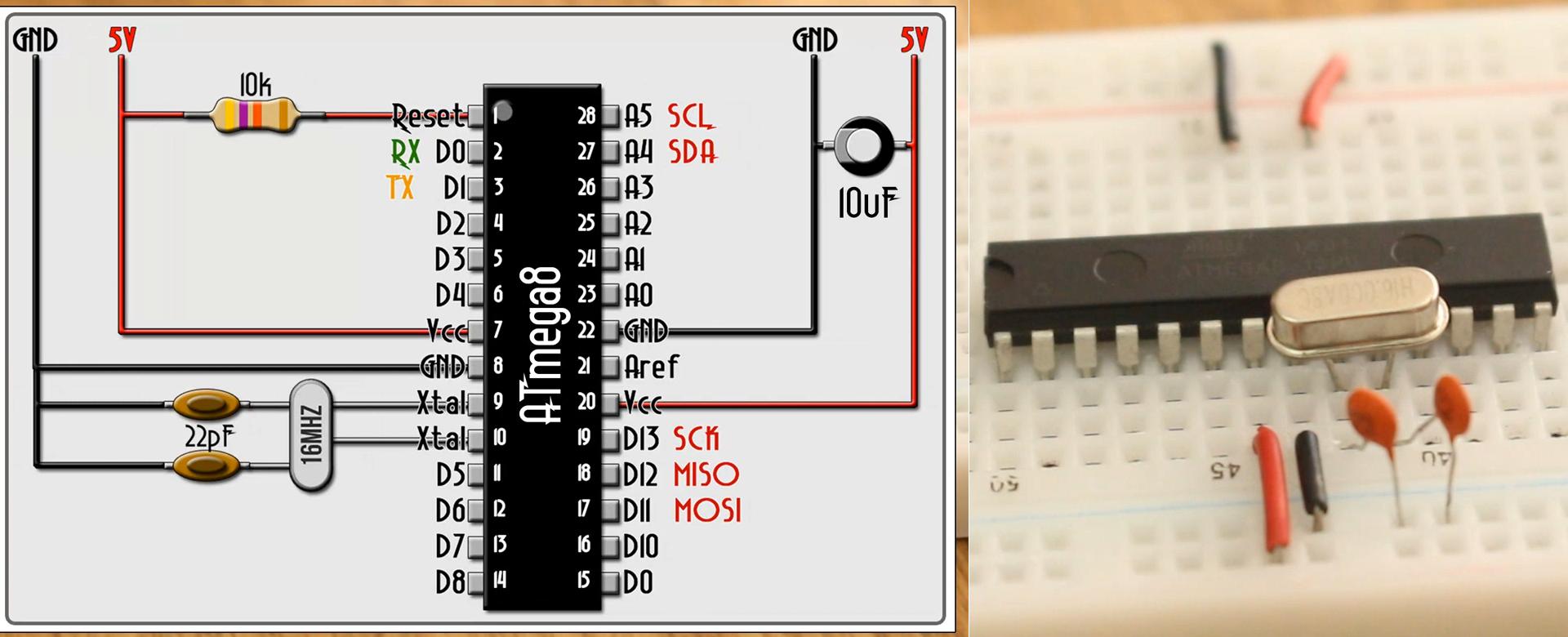 16MHz bootloader for Atmega8 arduino IDE