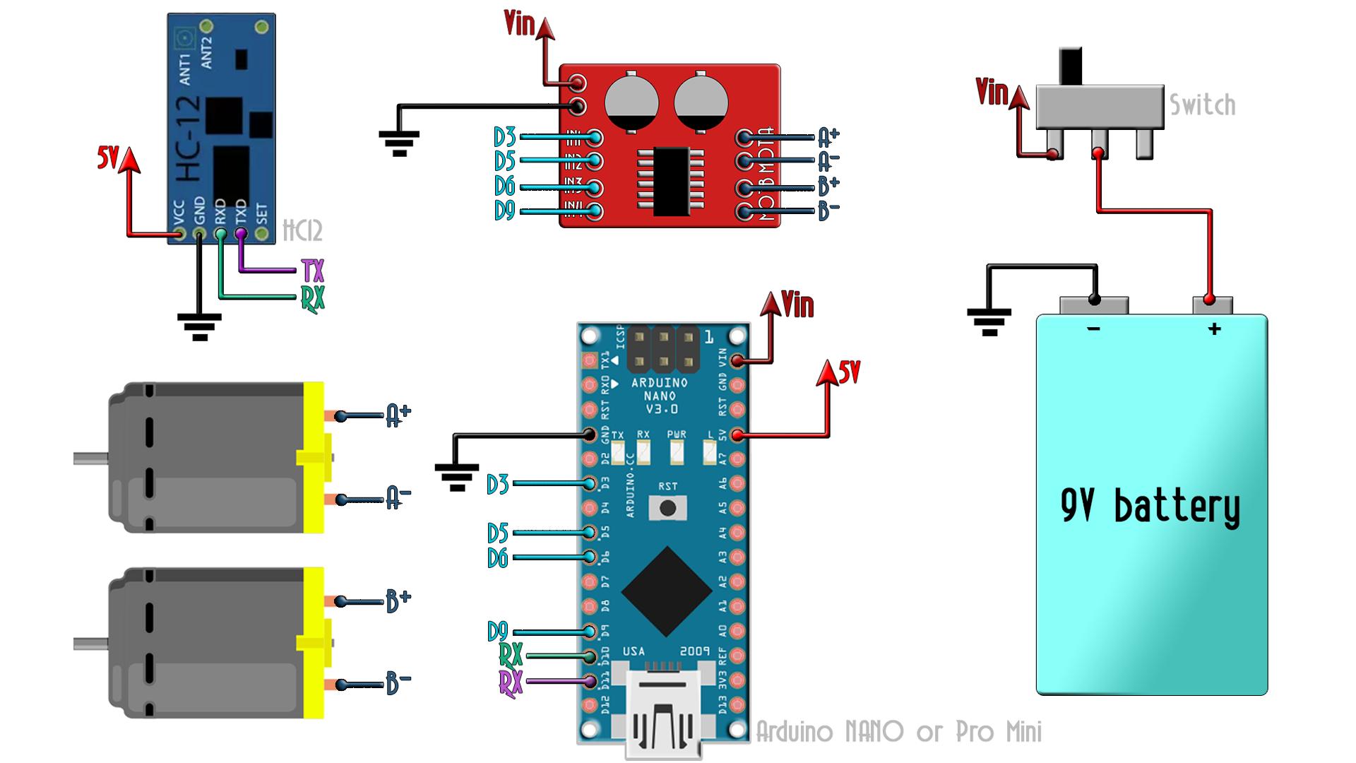 Arduino radio receiver HC-12