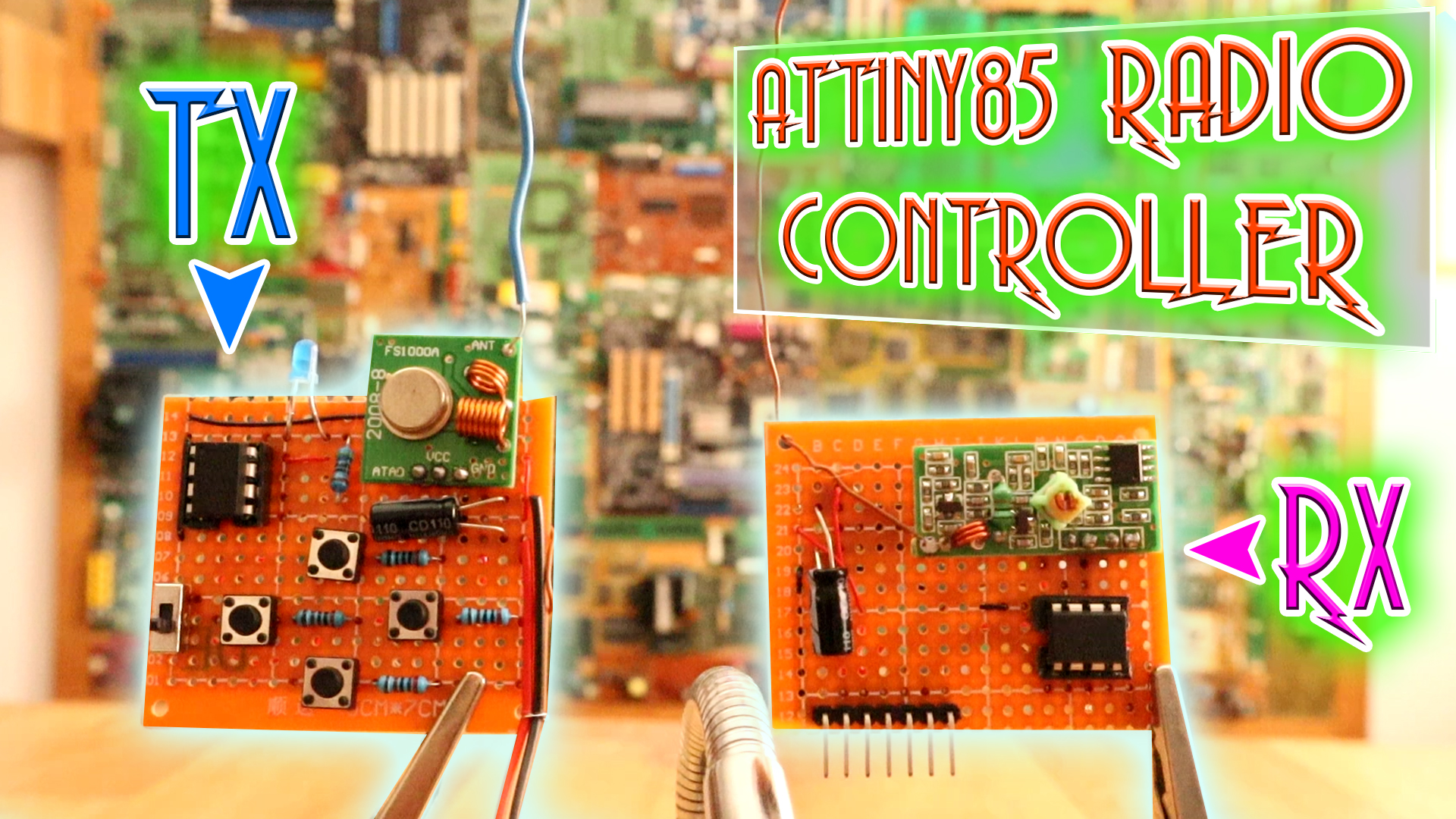 Arduino Tutorials Begginers Advanced Easy Basic Simple Circuit Using The Attiny85 Microcontroller An Rgb Led And Some In This Tutorial We Will Make Most Radio Controller There Is Attiny A 433mhz Module Entire Project Costs Around 3