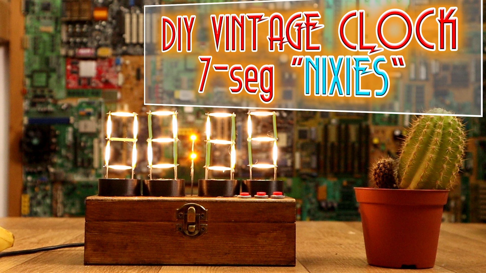 Homemade nixie 7 segments DIY clock arduino