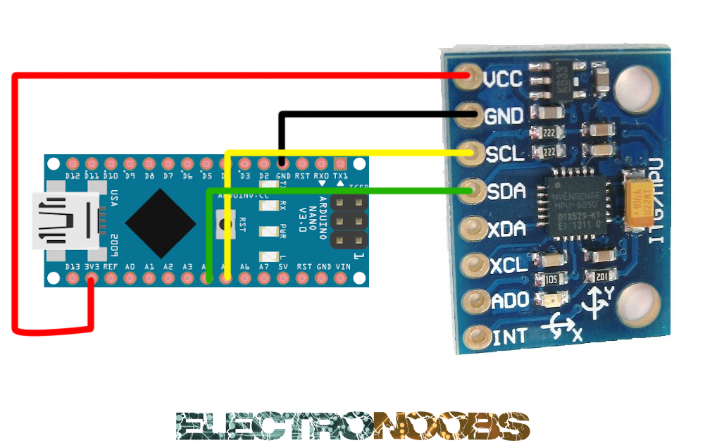 Mpu data read with arduino and example code