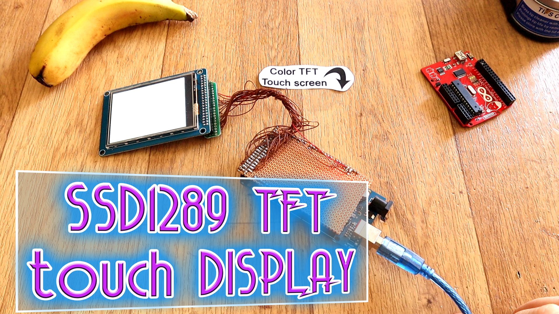 SSD1289 TFT display Arduino example