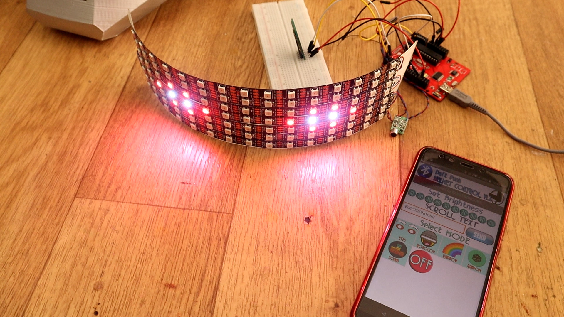 adressable LED strip text scroll