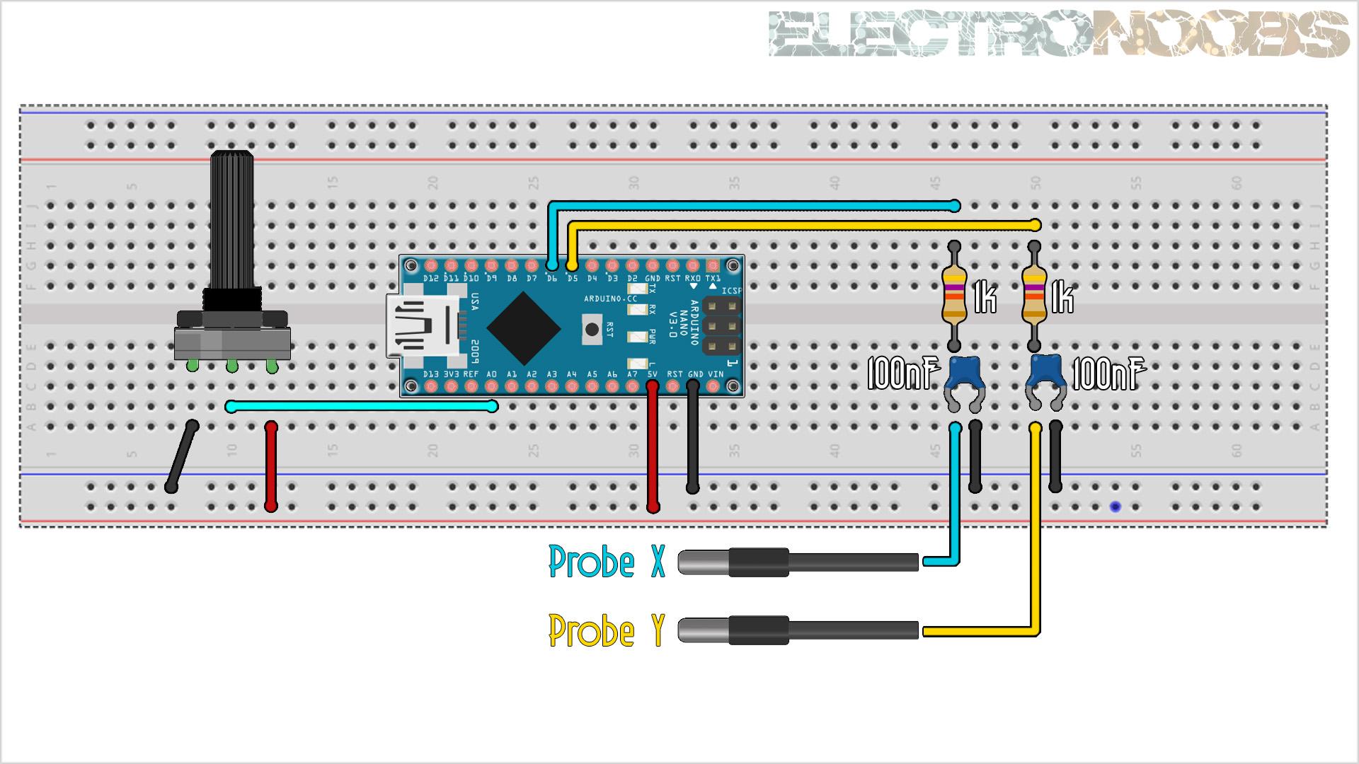 Arduino XY plot draw oscilloscope christmas tree
