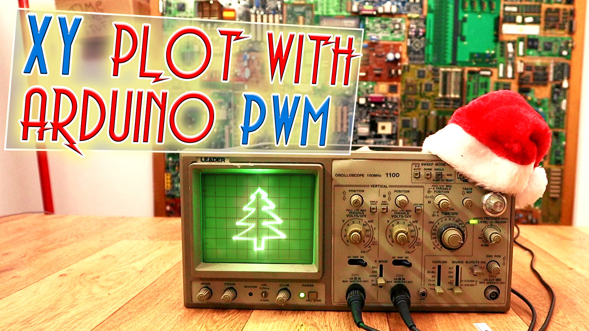 Arduino XY plot draw oscilloscope christmas tree