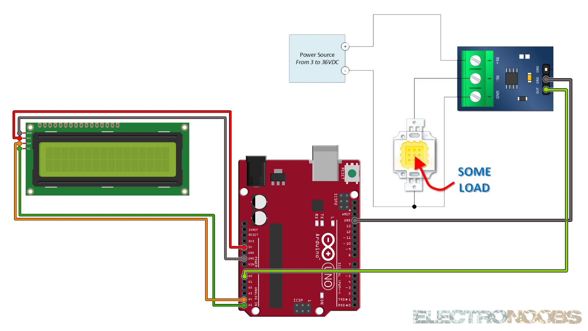MAX471 current sensor Arduino Tutorial