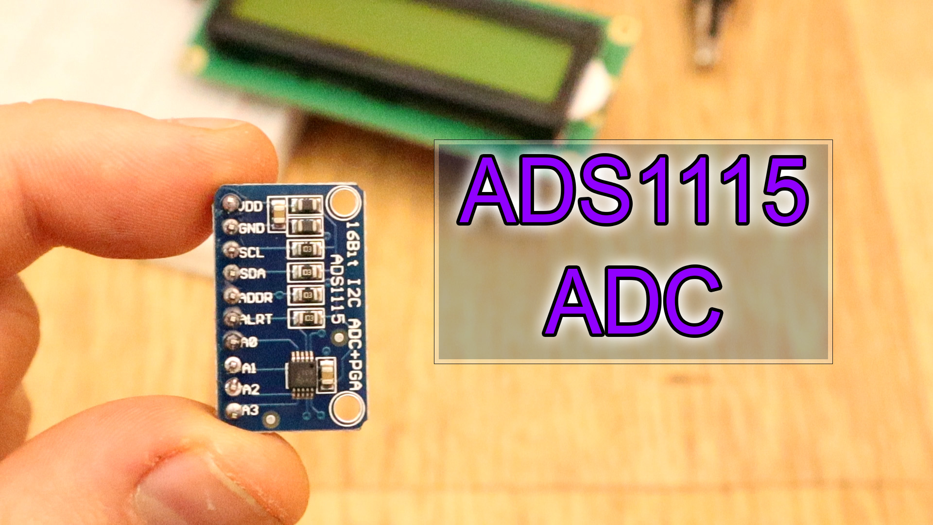 ADS1115 ADC 16 bit high precision Arduino Tutorial