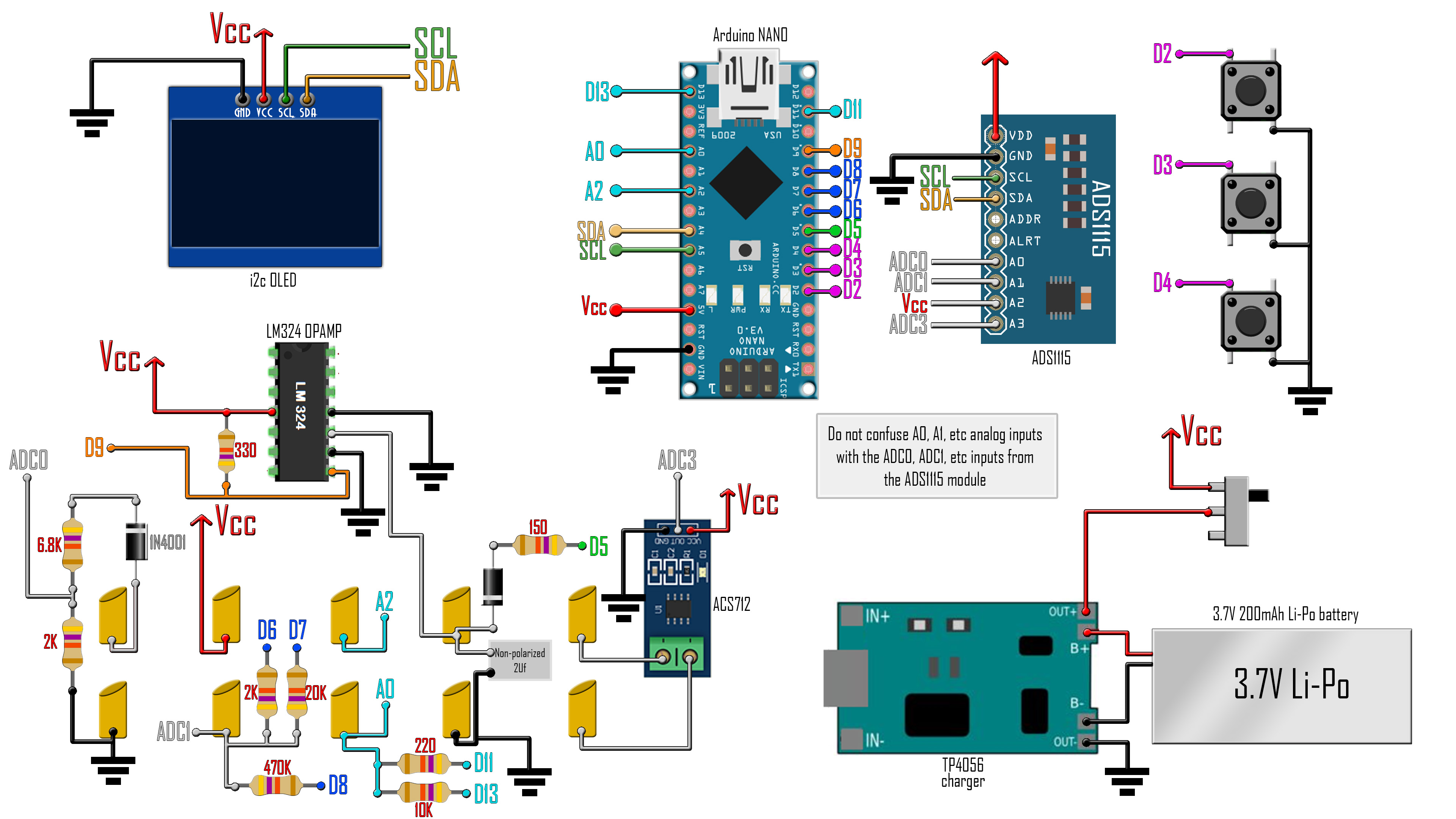 Arduino based multimeter for current voltage indcutance capacitance