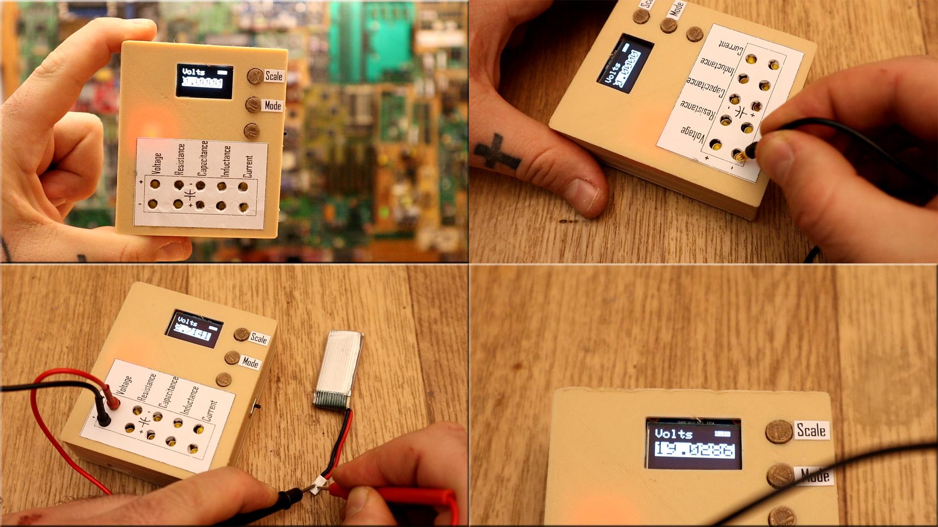 Arduino based multimeter for current voltage indcutance capacitance