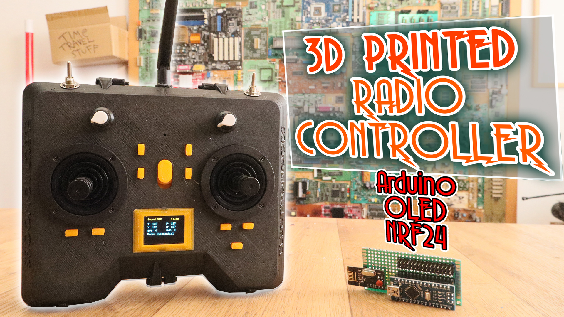 Arduino radio controller PWM 3D printed case RC NRF24