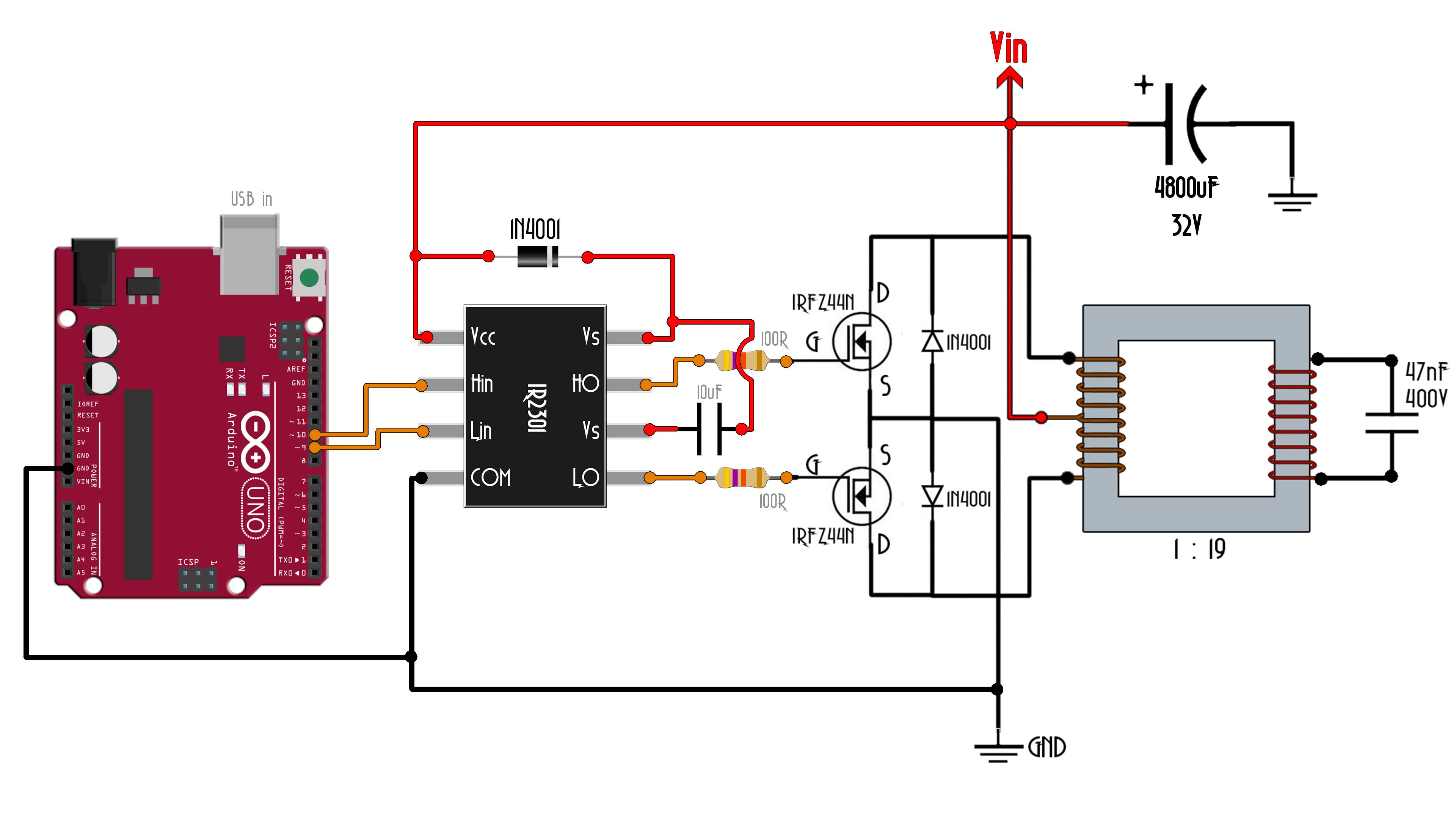 Arduino SPWM inverter with full sine output 220V AC tutorial