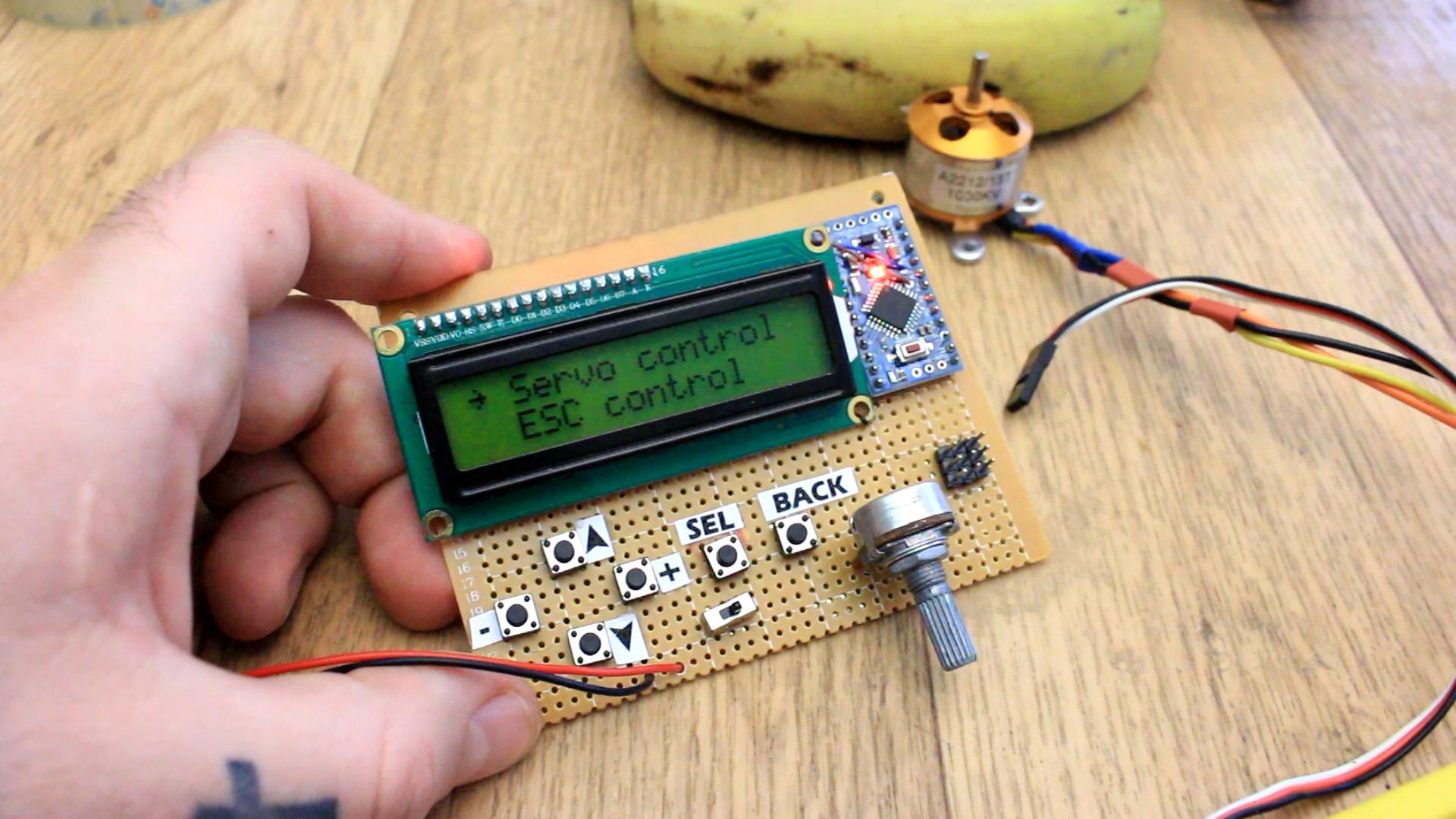 ESC servo tester with Arduino calibration