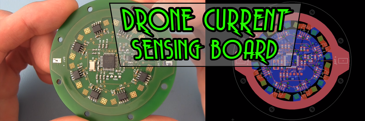 Current sensing board for drones
