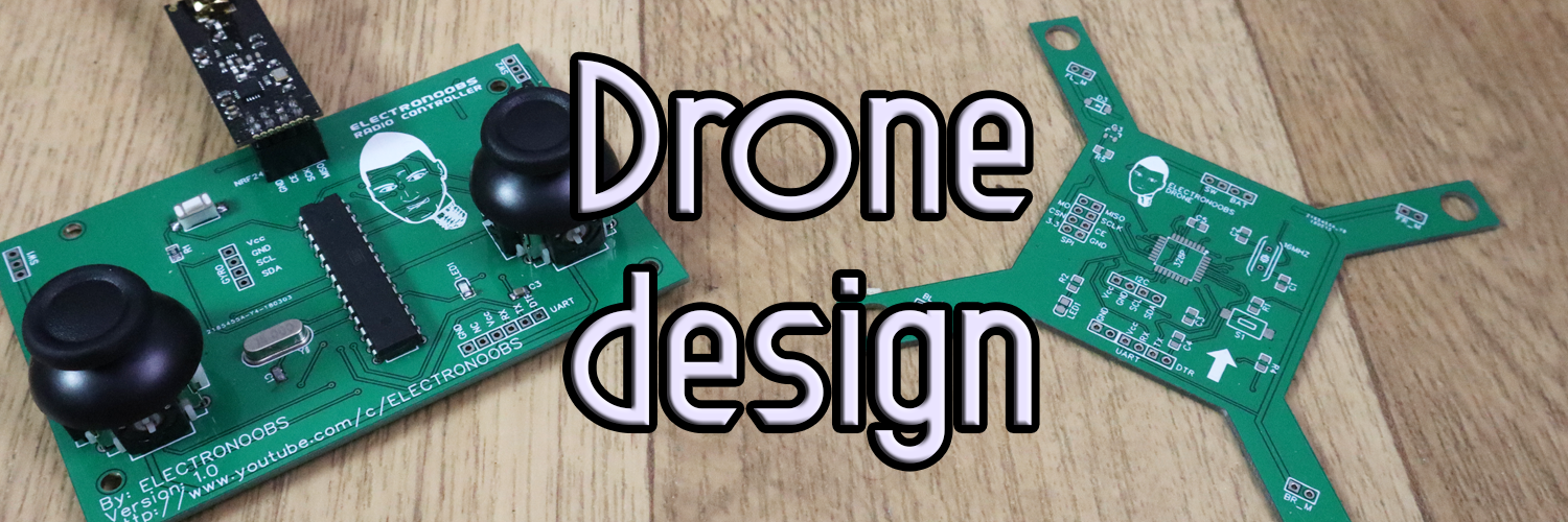 Brushed drone PCB design Arduino