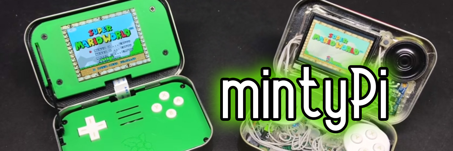 mintyPi - Game console in a can