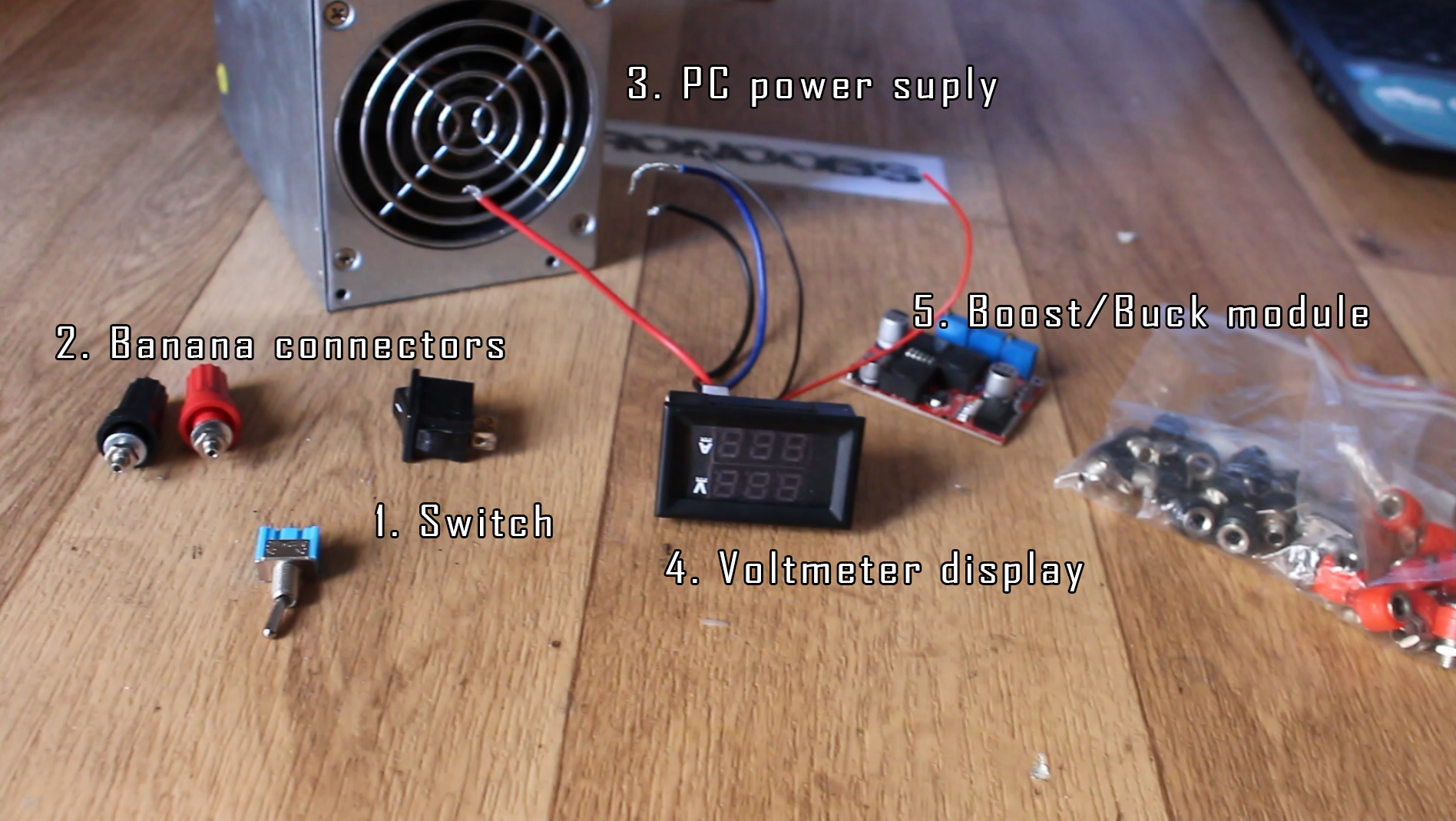vintage DIY bench power supply