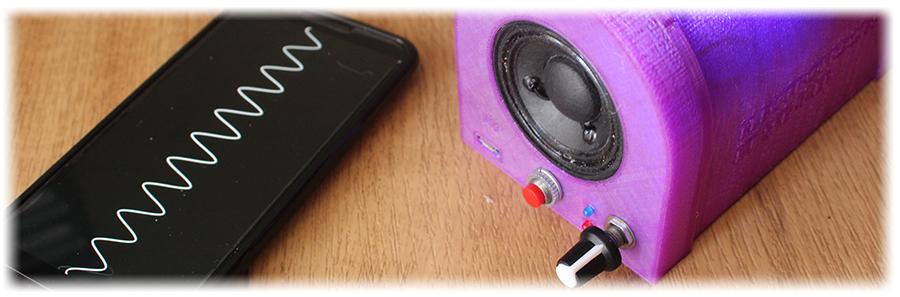 Homemade bluetooth portable DIY speaker 3d printed case