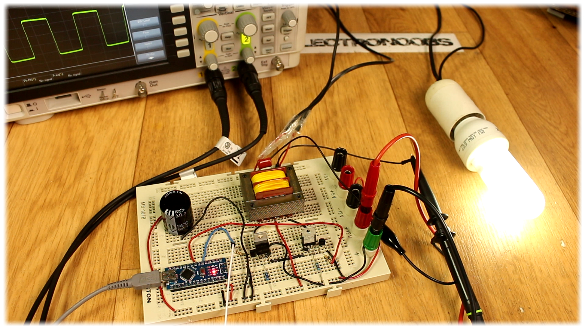 Homemade Inverter Diy Arduino 555 Timer Circuit Diagram Using Mos Fet Dc To Ac Power 12v Tutorial