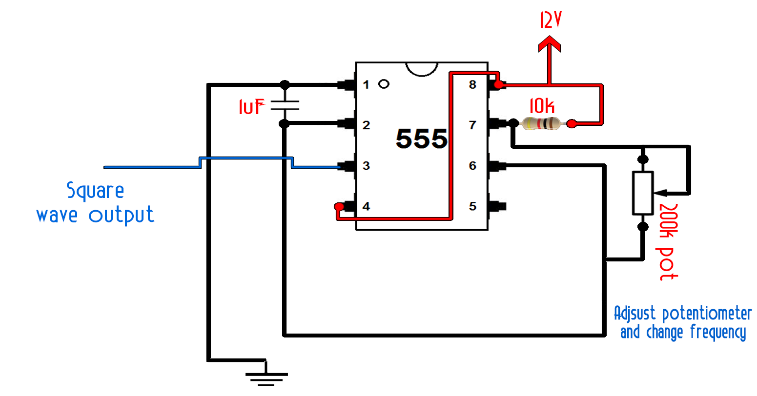 Timer Diagram Circuit | Diy 555 Inverter Timer Circuit