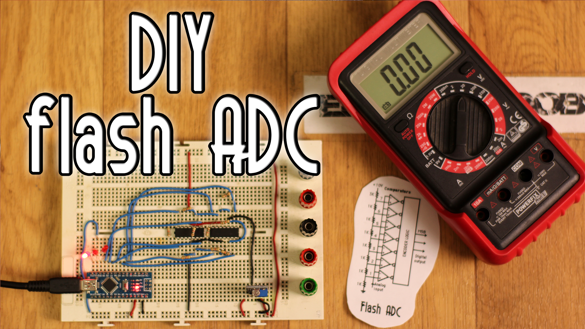homemade 3bit flash ADC