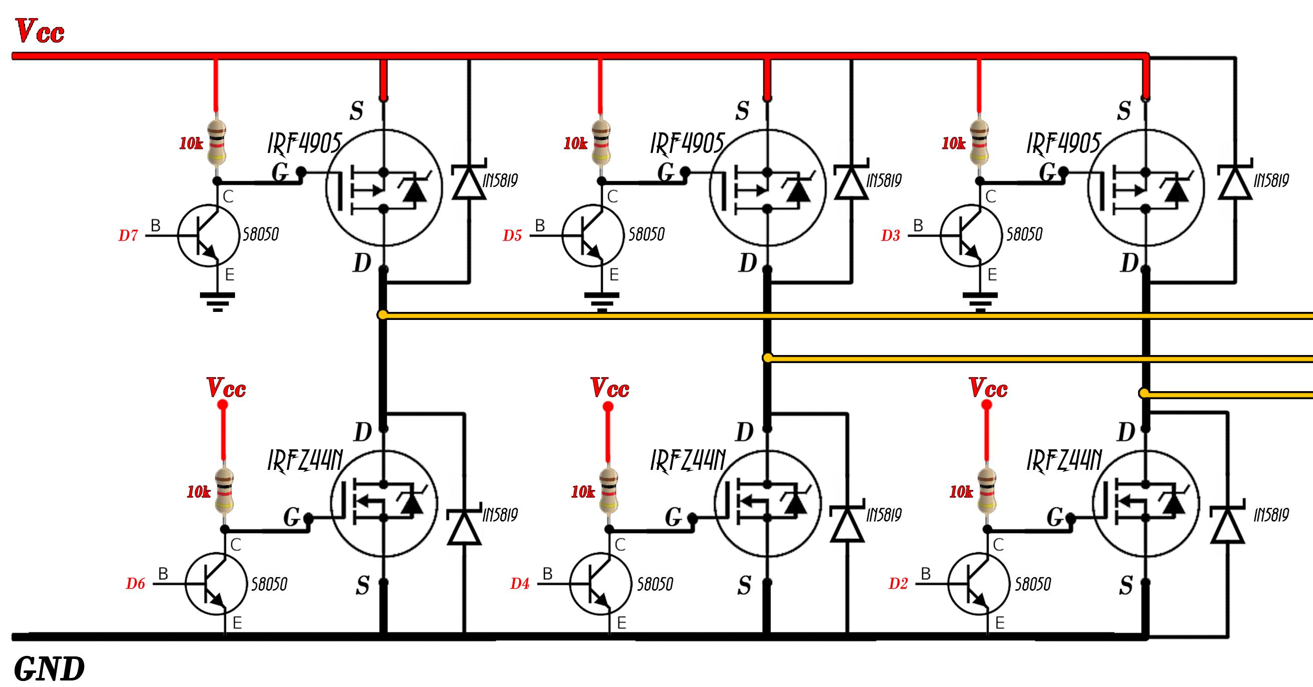 Brushless Sensored Schematic Motor Wiring Diagram 3 Phase Bridge