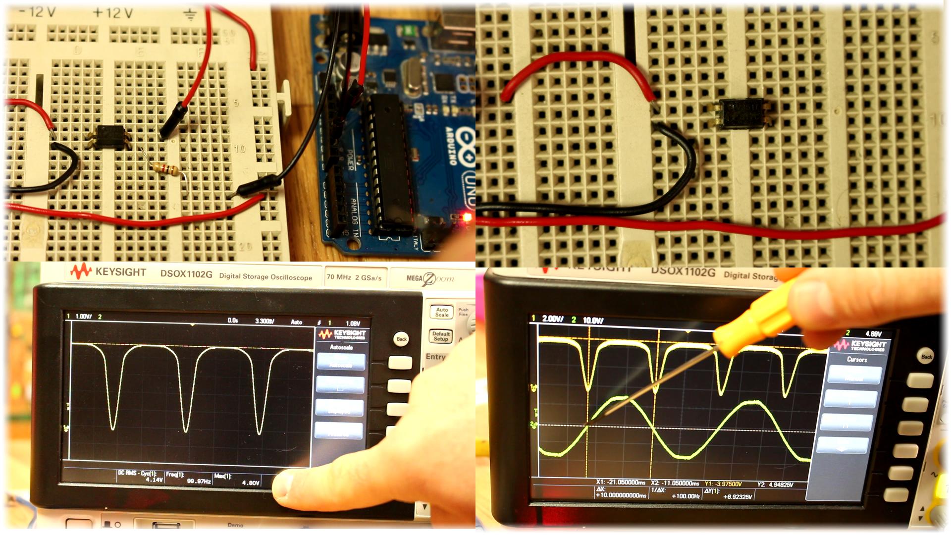 Arduino Triac Dimmer Ac Bluetooth Zero Cross Circuit A Or Crossing Is An Detection